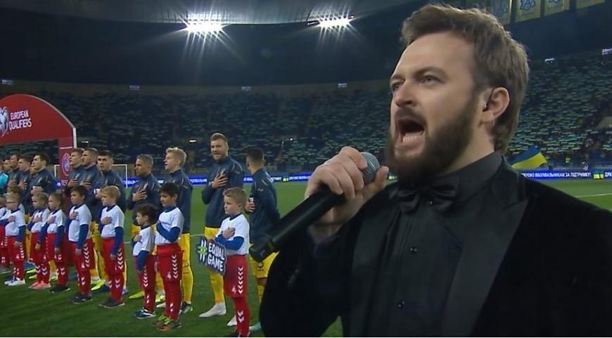 Дзідзьо виконав гімн України перед матчем з Литвою